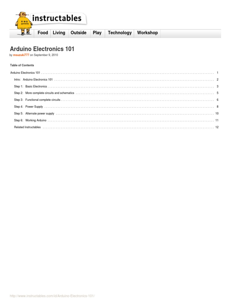 Arduino Electronics 101 Capacitor Electronic Circuits More Circuit About Simple Power Supply