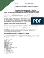 Travelgenio och Travel2be publicerar 2013:s rankning av flygbolag