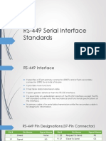 RS-449 Serial Interface Standards