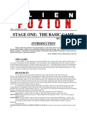 Aliens RPG-Fuzion (Custom) | Naval Mine | Missile