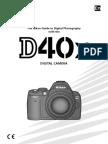D40X nikon user manual english