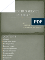 College Bus Service Enquiry Final Seminar
