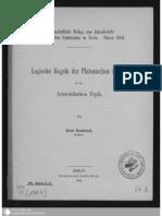 Hambruch, Logische Regeln Der Platonischen Schule in Der Aristotelischen Topik