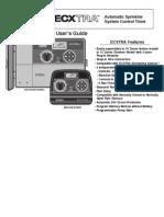 Toro Ecxtra Timer Manual