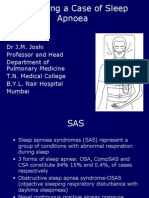 Evaluating a Case for Sleep Apnoea