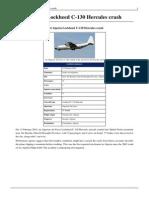 2014 Algeria Lockheed C-130 Hercules Crash