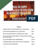 Manual de Campo para el cálculo de evolución de Incendios Forestales