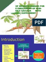 protein enrichment using cassava residue