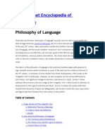 Philosophy of Language - Iep