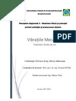 Masurarea vibratiilor  Traductori Studiu de caz