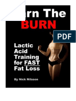 Lactic Acid Training for Fast Fat Loss
