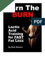 Lactic Acid Training for Fast Fat Loss