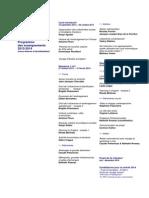 Programme Des Enseignements 2013-2014