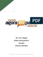 Aep Trt 6a Regiao Tecnico Judiciario Area Administrativa Direito Administrativo Giuliano Menezes