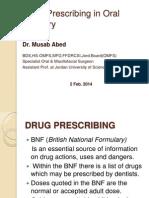 Drug Prescribing in Oral Surgery