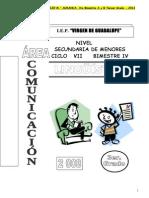 Linguistica Cuarto Bimestre Tercer Grado a y b