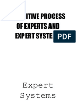 Cognitive Process of Experts and Expert Systems