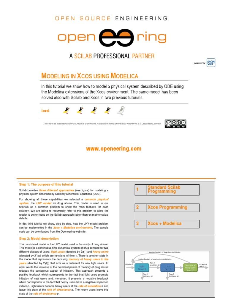 Tutorial Scilab Xcos Modelica Part3 0 | Parameter (Computer Programming) |  Capacitor