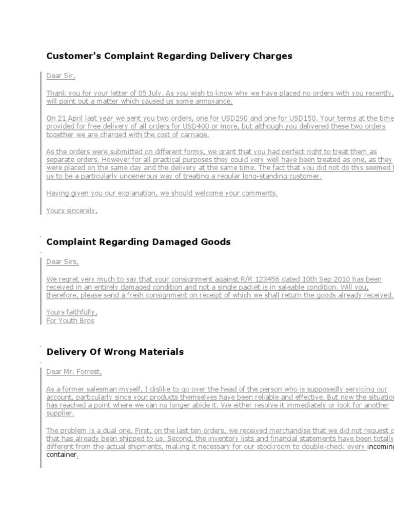 Complaint letter bus pen altavistaventures Image collections
