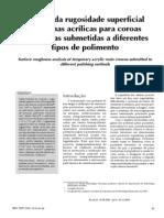 Análise da rugosidade superficial de RAAQ em diferentes polimentos (2005)