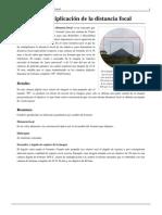 Factor de multiplicación de la distancia focal