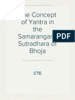 The Concept of Yantra in the Samarangana Sutradhara of Bhoja