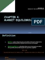 Chapter 4 Market Equilibrium