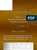 Lecture 6 - IRR