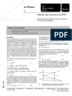 Electron Spin Resonance at DPPH