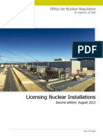 Licensing Nuclear Installations