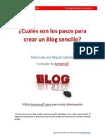 Pasos Para Crear Un Blog Sencillo