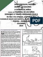 HOJITA EVANGELIO DOMINGO VI TO A BN