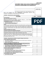 Senarai Semak Dokumen Temuduga PPPS