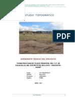 Anexo  ESTUDIO TOPOGRAFICO