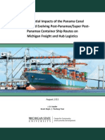 Panama Canal Expansion Effects to Michigan Freight and Hub Logistics | August 2013