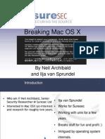 Breaking Mac Osx