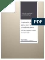 Cuadernillo de apoyo para la revisión de textos