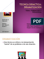 Tecnica Didactica Dramatizacion