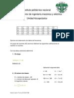 tablas de probabilidad y estadisticas