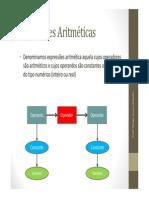Aula 4 - Expressões Aritméticas_Introdução Pseudocódigo