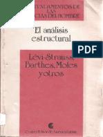 Lévi-Strauss, Barthes, Moles y otros - El análisis estructural (Centro Editor de América Latina) (by Thecastleofdreams)