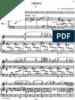 Taktakishvili - Sonata for flute and piano - 1° moviment - piano