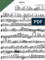 Taktakishvili - Sonata for flute and piano - 1° moviment