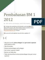 Pembahasan BM1 tahun 2012