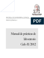 Manual de laboratorio Fisicoquímica I-2012