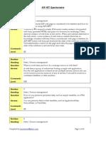 ASP NET Questionnaire