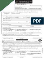 BT Karachi English Form Residential