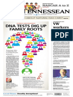 DNA Tests Dig Up Family Roots. Tennessean, 15 Feb 2014 - by Tony Gonzalez