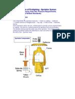 Description and Design of Sprinkler Systems