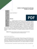 Justicia Constitucional de Los Derechos Sociales en Venezuela